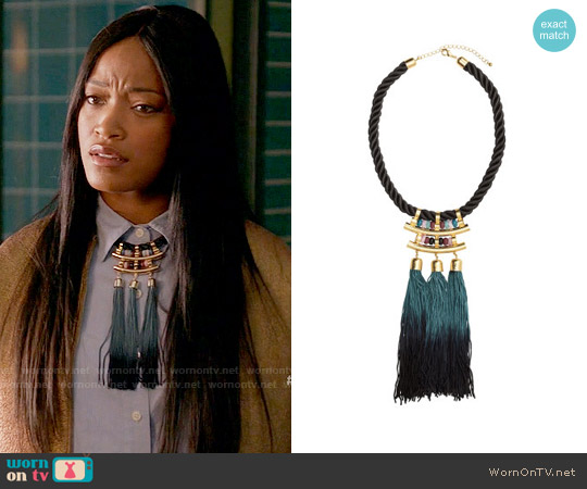 H&M Necklace with Tassels worn by Keke Palmer on Scream Queens