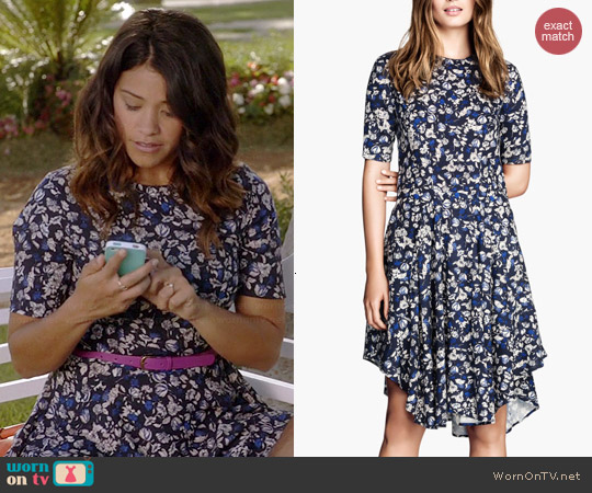 H&M Patterned Dress worn by Gina Rodriguez on Jane the Virgin