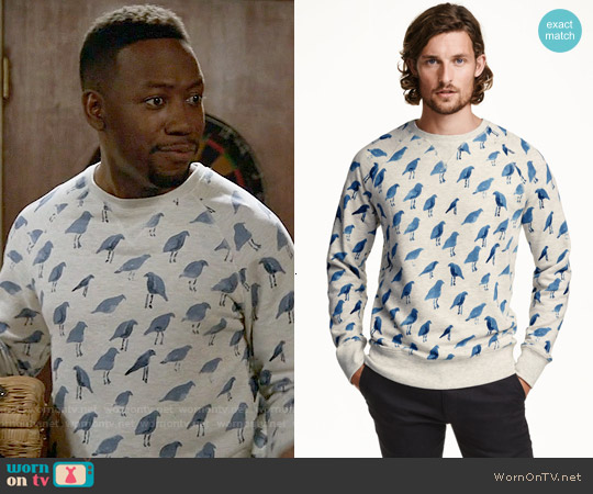 H&M Patterned Sweatshirt worn by Lamorne Morris on New Girl