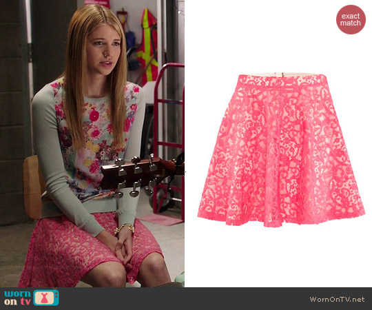 H&M Pink Lace Skirt worn by Sarah Fisher on Degrassi: The Next Generation