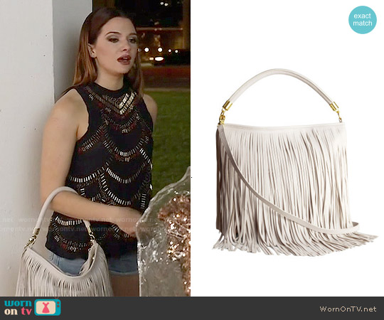 H&M Fringed Shoulder Bag worn by Karma on Faking It