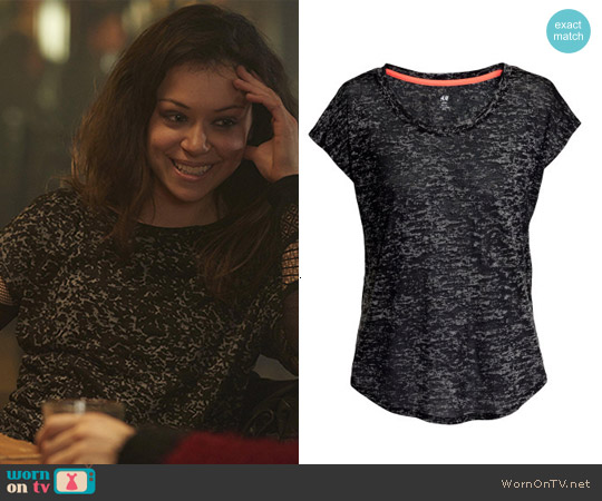 H&M Sports Top worn by Sarah Manning on Orphan Black
