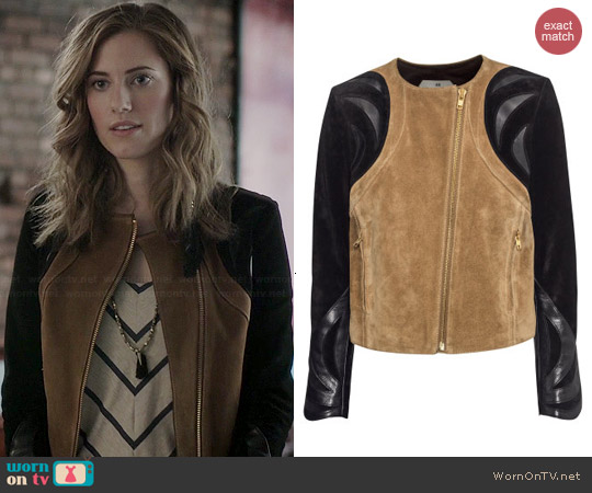 H&M Suede Jacket worn by Allison Williams on Girls