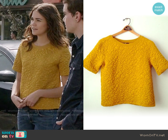 H&M Quilted Sweatshirt worn by Maia Mitchell on The Fosters