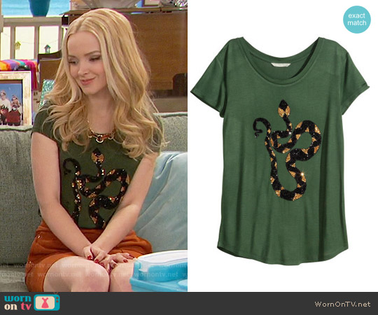 H&M Top with Sequins worn by Dove Cameron on Liv & Maddie