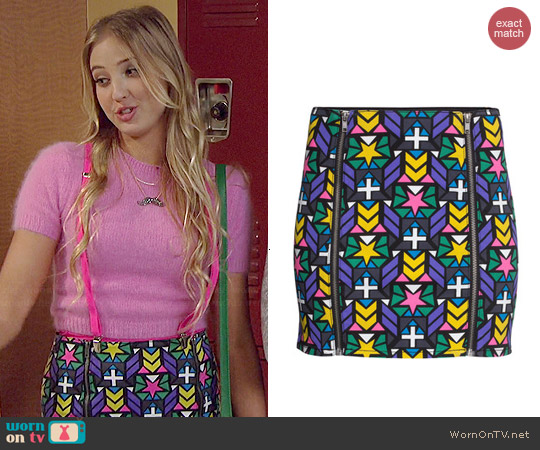 H&M Twill Patterned Skirt worn by Veronica Dunne on KC Undercover