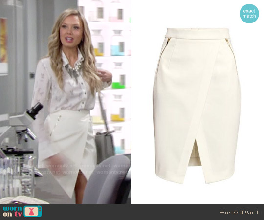 H&M Wrap Front Skirt worn by Abby Newman on The Young & the Restless