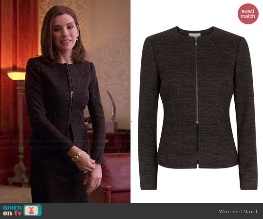 Hobbs Ida Jacket worn by Julianna Margulies on The Good Wife
