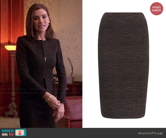 Hobbs Ida Skirt worn by Alicia Florrick on The Good Wife