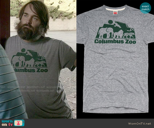 Homage The Columbus Zoo T-shirt worn by Will Forte on Last Man On Earth