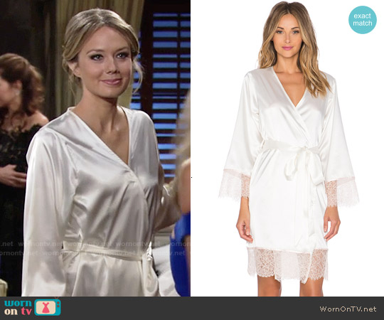 Homebodii Bride Embroidered Robe worn by Melissa Ordway on The Young & the Restless