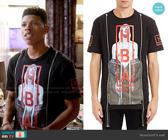 Hood by Air Triptych Double-Zip T-Shirt worn by Bryshere Y. Gray on Empire