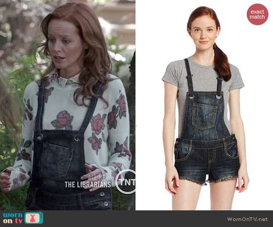 Hot Kiss Denim Shortalls worn by Lindy Booth on The Librarians