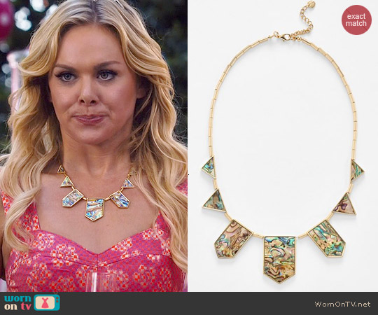 House of Harlow Abalone Station Necklace worn by Shelby on Hart of Dixie