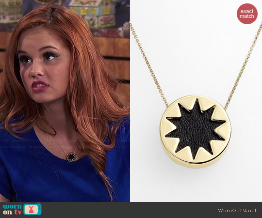 House of Harlow Mini Sunburst Necklace worn by Debby Ryan on Jessie