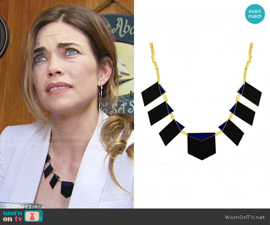 House of Harlow Modern Motif Necklace worn by Victoria Newman on The Young & the Restless