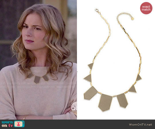 House of Harlow Station Necklace in Khaki worn by Emily VanCamp on Revenge