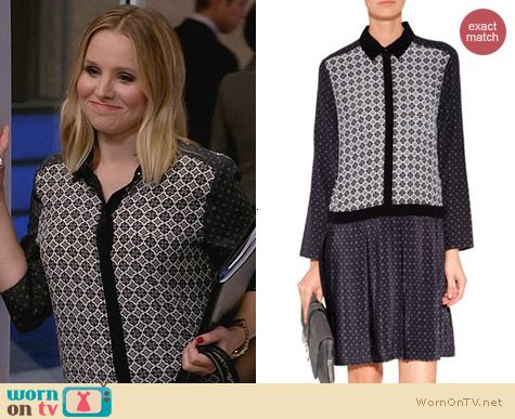 House of Lies Fashion: Vanessa Bruno Athe Silk Shirtdress in Silex worn by Kristen Bell