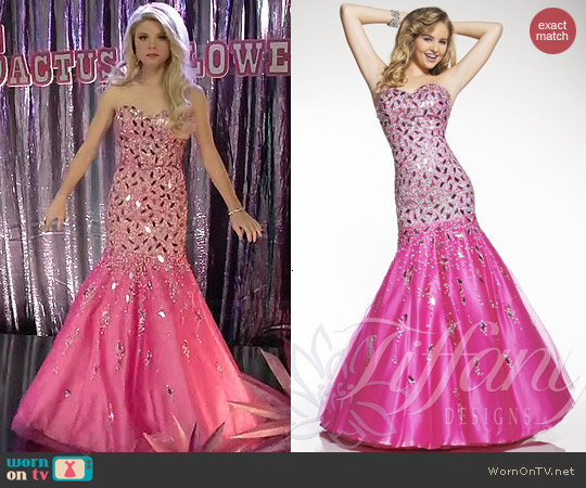 House of Wu Tiffany Designs Dress #16029 worn by Bailey Buntain on Faking It