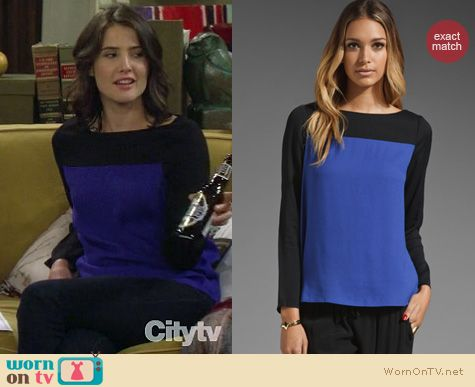 How I Met Your Mother Fashion: Joie Aliso colorblock top worn by Cobie Smulders