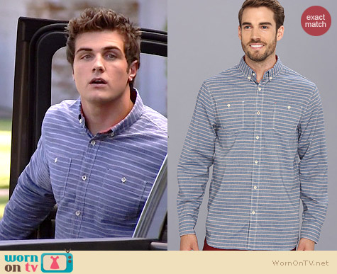 Howe Ground Swell Stripe Shirt worn by Beau Mirchoff on Awkward