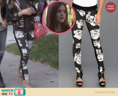 Hudson Collin Floral Jeans worn by Lucy Hale