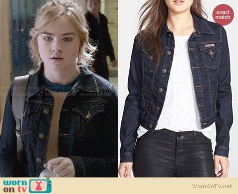 Hudson Denim Jacket worn by Maddie Hasson on Twisted