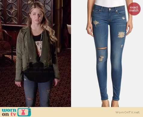 Hudson Krista Super Skinny Jeans in Foxey worn by Sasha Pieterse