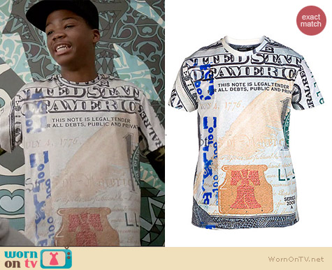 Hudson New Money Tee worn by Astro on Red Band Society