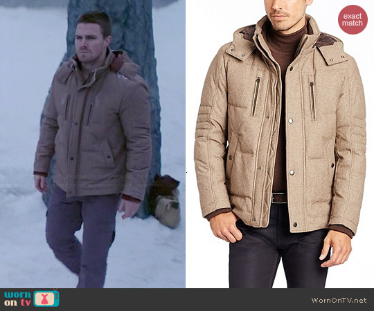 Hugo Boss Dery Jacket worn by Stephen Amell on Arrow