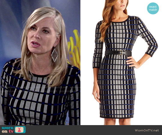 Hugo Boss 'F5133' Viscose Blend Knit Sweater Dress worn by Eileen Davidson on The Young & the Restless