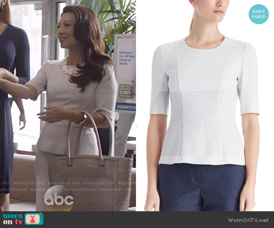 Hugo Boss Iplia Peplum Top worn by Ming-Na Wen on Agents of SHIELD