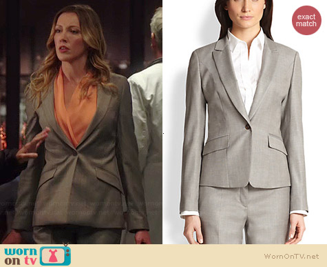 Hugo Boss Janore Suiting Jacket worn by Katie Cassidy on Arrow