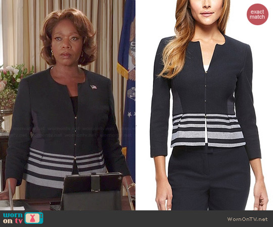 Hugo Boss Jeisina Jacket worn by Alfre Woodard on State of Affairs