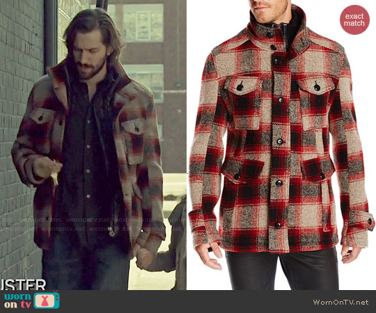 Boss Orange Plaid Field Jacket worn by Michiel Huisman on Orphan Black