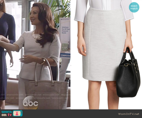 Hugo Boss Vipila Pencil Skirt worn by Melinda May on Agents of SHIELD