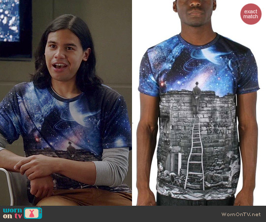 Imaginary Foundation The Beginning is Near Sublimation Tee worn by Carlos Valdes on The Flash
