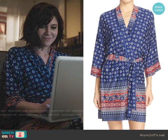 In Bloom by Jonquil Bandana Print Robe worn by Mary Elizabeth Winstead on BrainDead