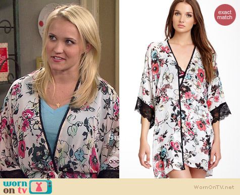 In Bloom Poppies Wrap worn by Emily Osment on Young & Hungry