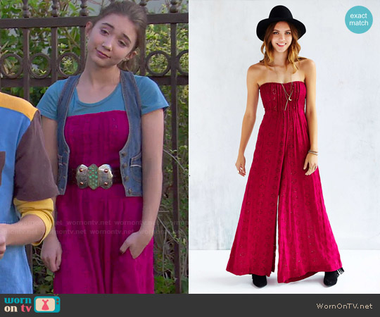 Indah Pure Eyelet Jumpsuit worn by Rowan Blanchard on Girl Meets World