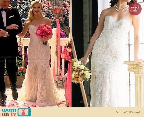 Ines Di Santo Wedding Gown worn by Melissa Joan Hart on Melissa & Joey