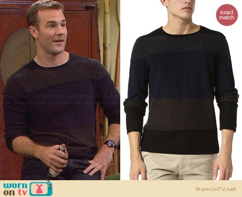 Inhabit Colorblock Sweater worn by James van der Beek on FWBL