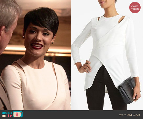Intermix Noreen Cutout Wrap Top worn by Grace Gealey on Empire