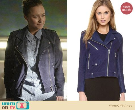 IRO Adila Leather Moto Jacket worn by Hayden Panettiere on Nashville