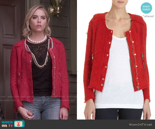 IRO Agnette Jacket worn by Ashley Benson on PLL