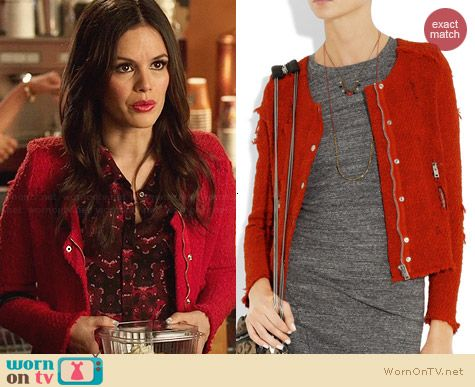 IRO Agnette Jacket worn by Rachel Bilson on Hart of Dixie