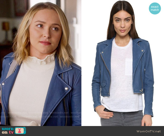IRO Ashville Jacket in Dirty Blue worn by Juliette Barnes on Nashville