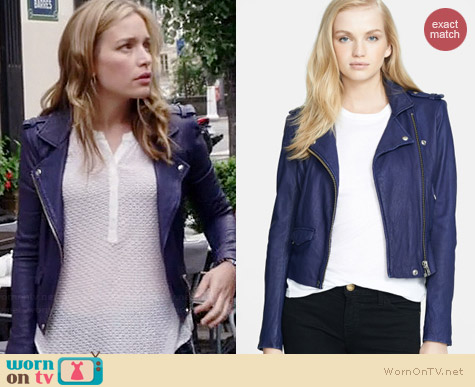 IRO Ashville Jacket worn by Piper Perabo on Covert Affairs