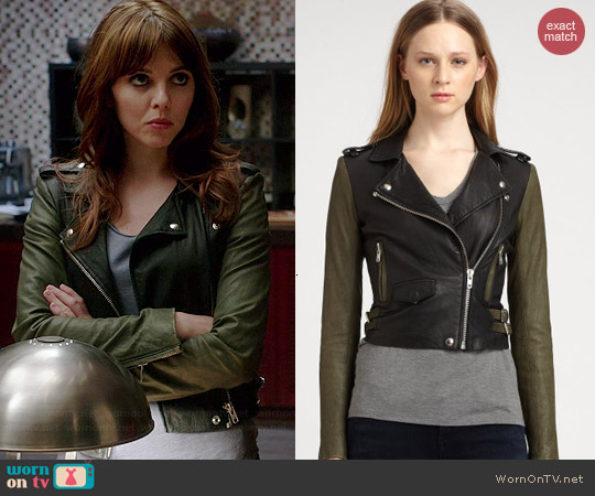 IRO Ashville Jacket worn by Ophelia Lovibond on Elementary