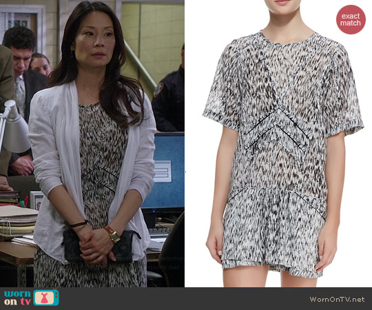 IRO Carline Dress worn by Lucy Liu on Elementary
